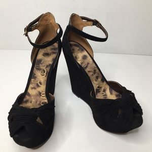 Sam Edelman black sz 9 sandal wedge